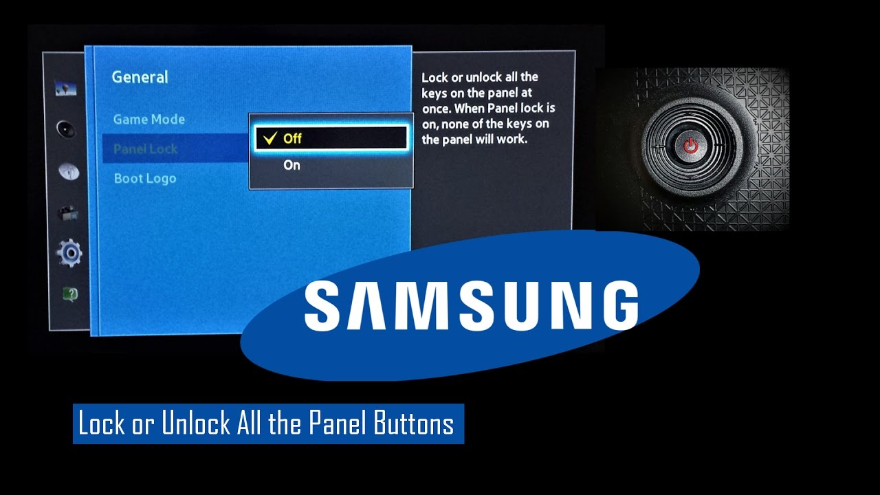 Samsung Tv Buttons Enable Disable Child Lock Youtube