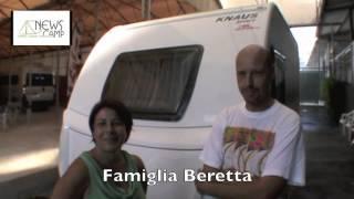 Famiglia Beretta e la loro caravan