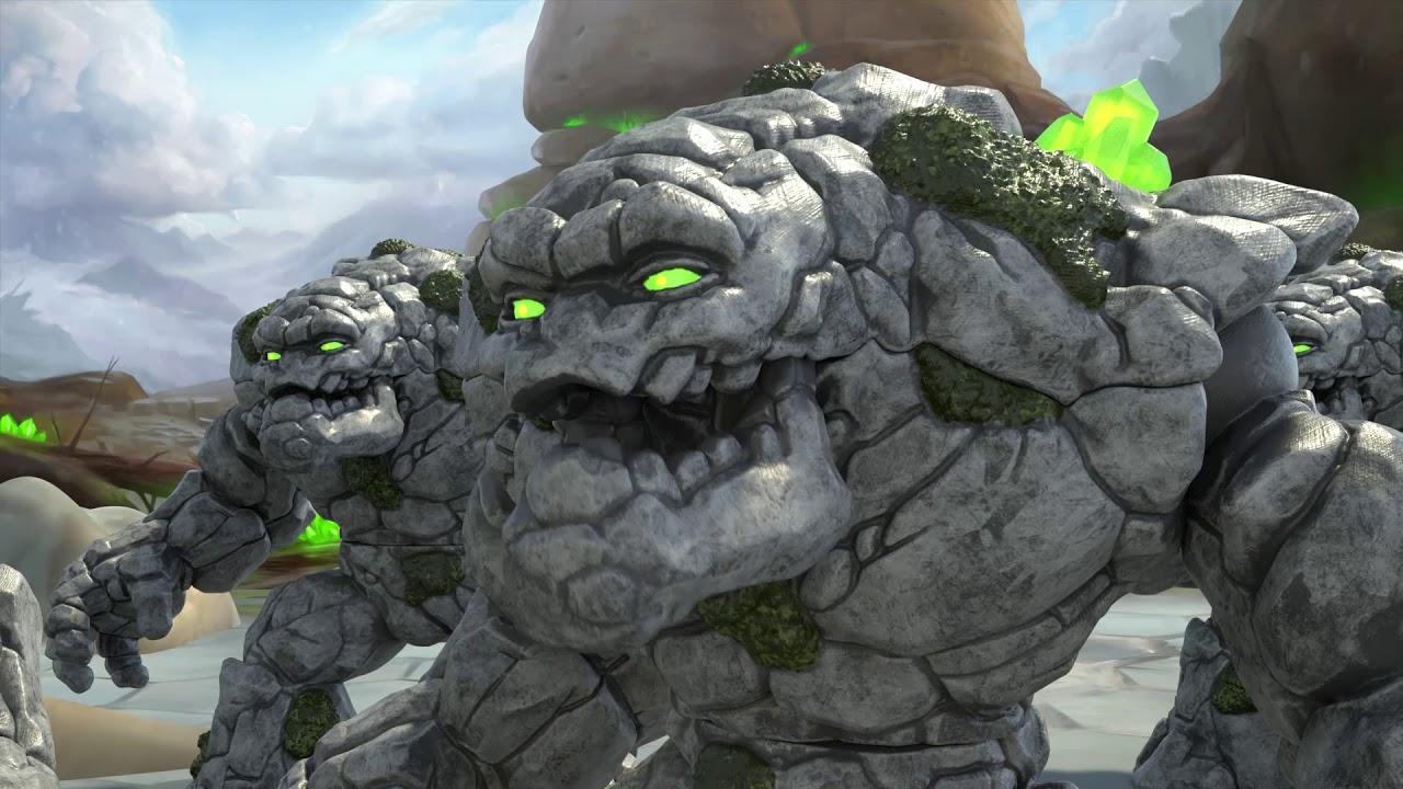 Der Kampf Der Schleich Eldrador Creatures Stein Vs Lava