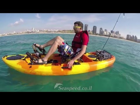 קיאק מהיר הנעת פדלים ומדחף מדגם  Kayak Pedal Drive Tide בים