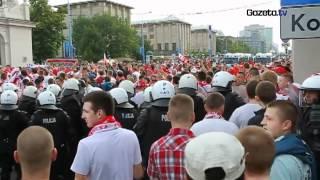Starcie kibiców z policją przed meczem Polska-Rosja