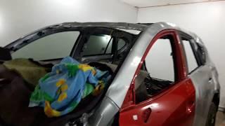 Кузовной ремонт   Mazda СХ-5 2017г.в Часть1