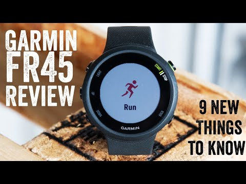 Garmin Forerunner 45 Review: 9 New Things To Know // Hands-on walk-through