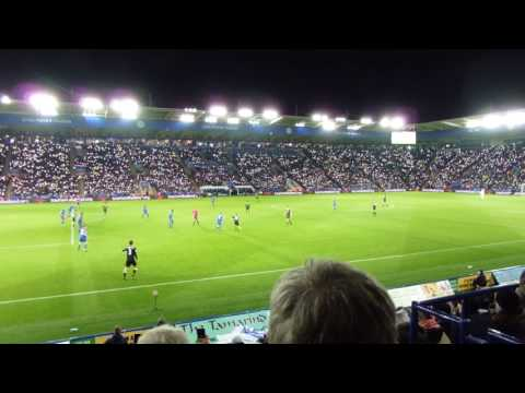 Fans lights up the KP for Birchy  LCFC v Chelsea