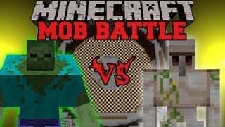 Mutant Zombie Vs Iron Golem - Minecraft Mob Battles - Mutant Creatures Mod