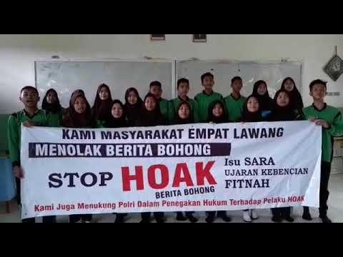Deklarasi Anti Hoax dari Pelajar SMAN 3 Tebing Tinggi Empat Lawang