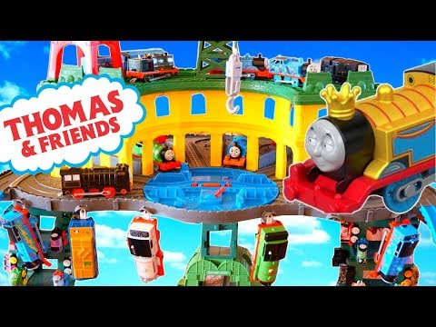 Thomas and Friends HUGE RAILWAY TRACK with SUPERSTATION Trackmaster and New Monkey Mania!