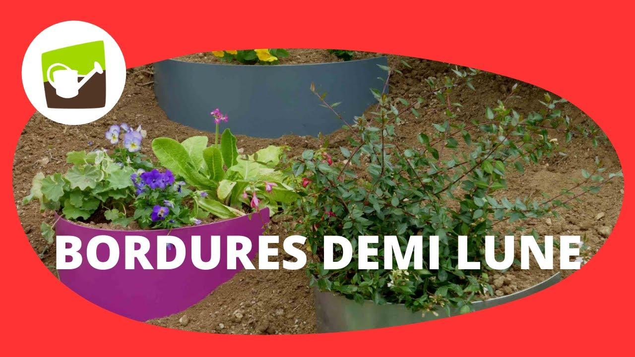 Bordure demi lune en acier 3 coloris jardin et saisons for Jardin et saisons
