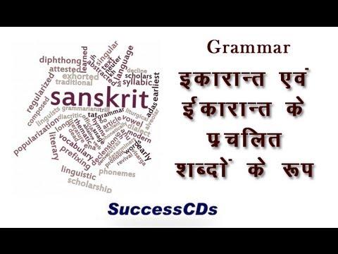 Learn Sanskrit Grammar Lesson 20 Shabdkosh Ikarant Eekarant