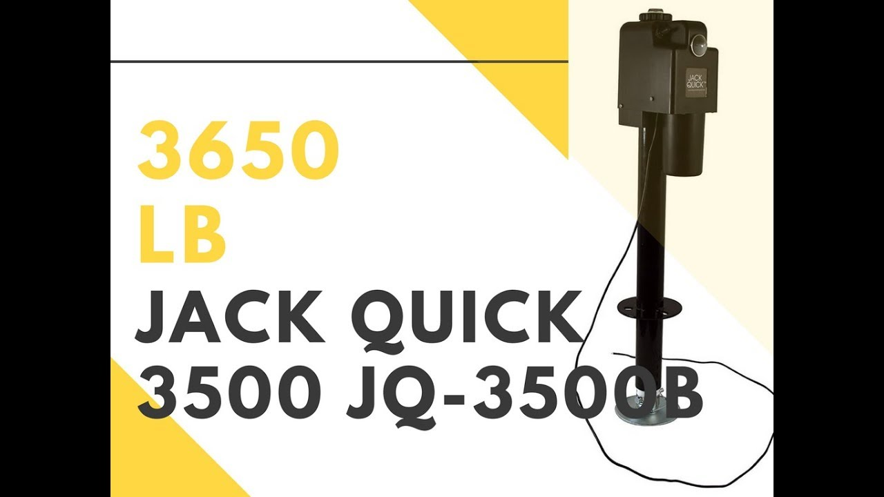 jack quick 3500 jq 3500b 12v electric tongue jack with single lights 3650 lb [ 1280 x 720 Pixel ]
