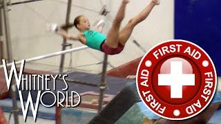 Gymnastics Toe Injury on Uneven Bars | Whitney Bjerken