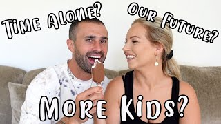 AD | COUPLES Q&A | MORE KIDS? TIME ALONE? OUR FUTURE? | Lucy Jessica Carter