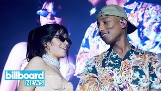 Pharrell Williams and Camila Cabello Drop New Song 'Sangria Wine' | Billboard News