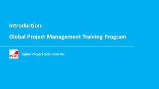 Global Project Management Training Program