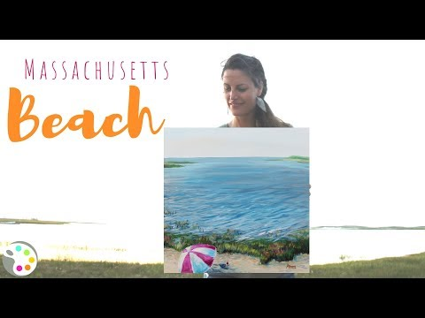 Acrylic Painting Tutorial   How To Paint a Beach