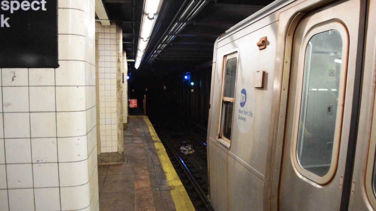 (1700th Video!!) Coney Island-bound R160A-2 (G) train ...