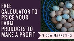 How to Price your Farm Products to Make a Profit (Free Calculator)