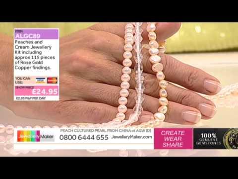 How to Make Beaded Bridal Jewellery: JewelleryMaker LIVE 17/09/2014