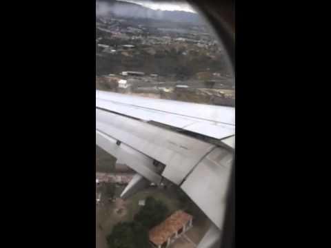 Tegucigalpa airport landing
