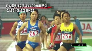 第98回日本選手権リレー 女子 4x400mリレー予選 2組 水野瑛 検索動画 41