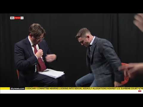 Sky news Jason Farrell LIES 6 times in 60 seconds in interview with Tommy Robinson!