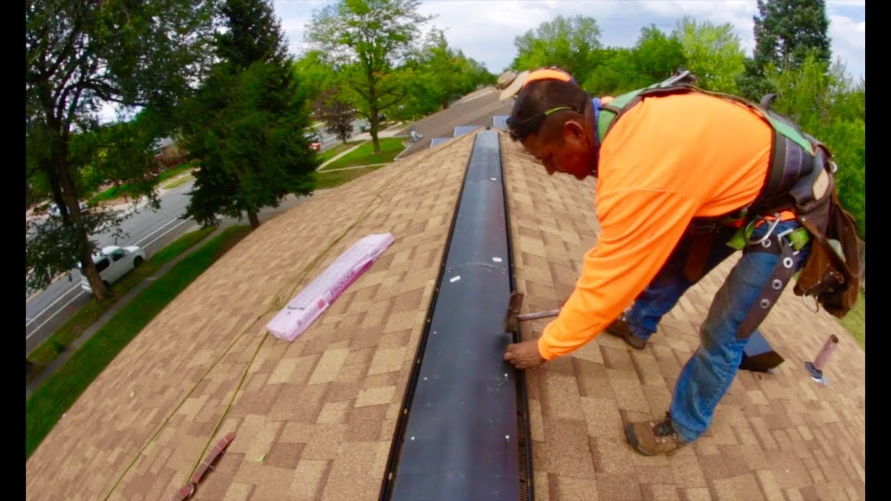 Ridge Vent Installation Tips Roofer Training Youtube