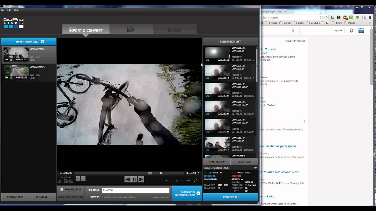 GoPRO FIX: not enough space for conversion gopro - YouTube