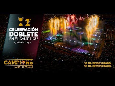 FC Barcelona: La fiesta de los campeones del doblete 2016