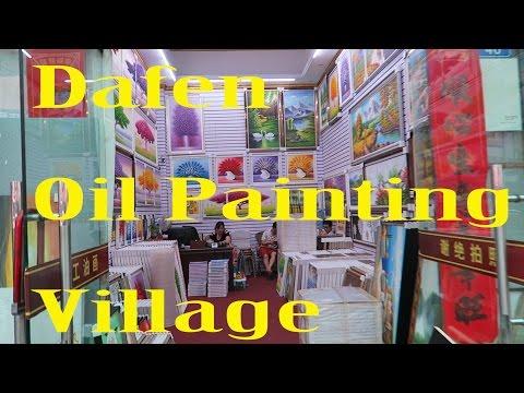 Walking around Dafen Oil Painting Village in Shenzhen