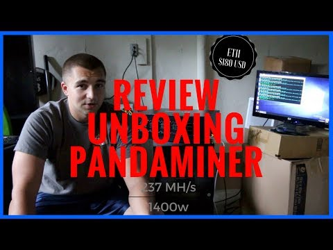 PandaMiner ETH Miner - Initial Review & Unboxing Setup To Mine Ethereum