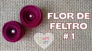 Flor de Feltro1 Passo a Passo – Vapt Vupt