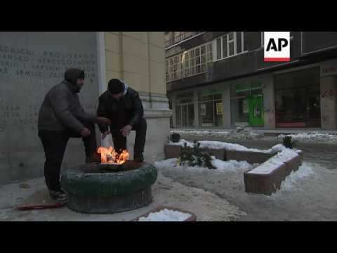 Polar conditions in Bosnian capital