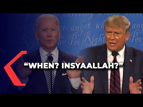 Momen Joe Biden Ucap Insyaallah Sindir Trump Di Debat Capres AS