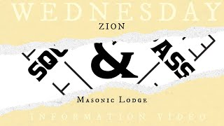 Wednesday Information Video: Learn About Zion Masonic Lodge