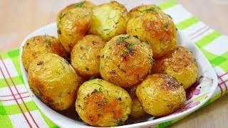 Золотистая молодая картошечка в духовке\Вкусный молодой картофель