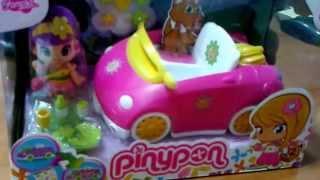фиолетовая машинка с куклой Пинипон Famosa