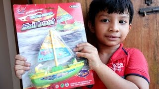 Super power motor driven sailboat - Boats for Kids