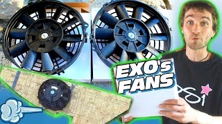Installing EXO's COOLING FANS For 30,000 Watt Sound System w/ 12v Push Pull Radiator Amp Fan