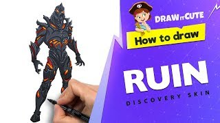 How to draw Ruin discovery skin | Fortnite season 8 drawing tutorial