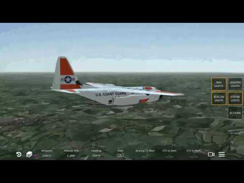 Infinite flight us coast guard c130 patrolling English chann