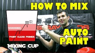 How to mix auto paint