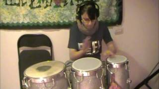 Hey, Soul Sister- Train (Drum Cover; Indian Congas, Conga Head & Acrylic Mini Timbales)- Sarah T