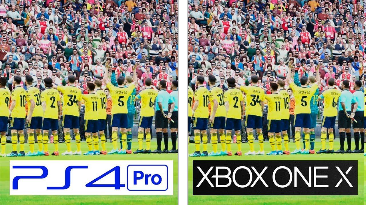 Pes 2020 Ps4 Pro Vs Xbox One X 4k Graphics Fps Comparison