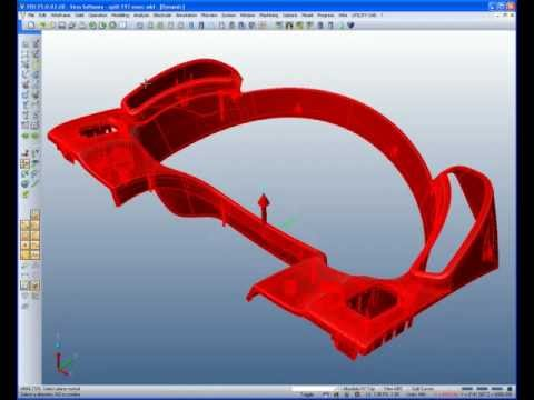 Complex Core and Cavity construction for an automotive front console