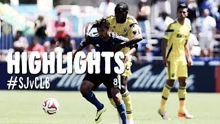 HIGHLIGHTS: San Jose Earthquakes vs Columbus Crew | April 13, 2014