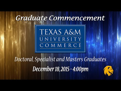 Graduate Commencement - Fall 2015