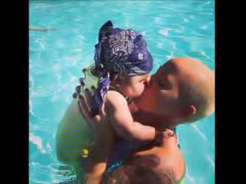 WIZ KHALIFA & AMBER ROSE: Amber Post Pic of Chubby-Faced Baby Sebastian in Pool (CUTE!!)