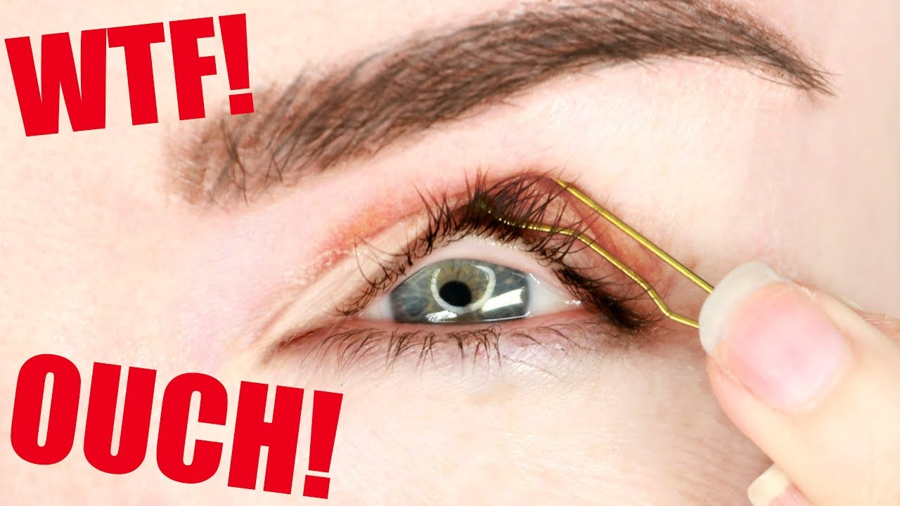 I tried the hooded eyelid hack    DO NOT TRY THIS YOURSELVES!