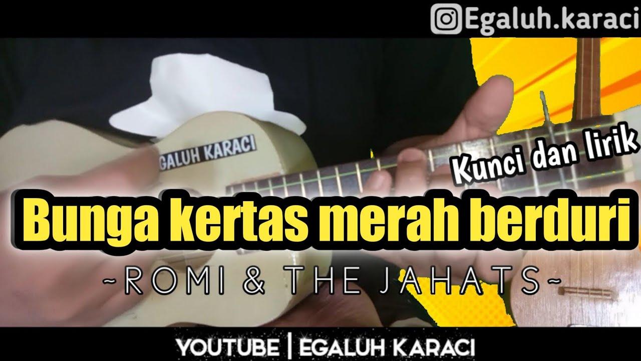 BUNGA KERTAS MERAH BERDURI (Kunci dan lirik) | COVER ...