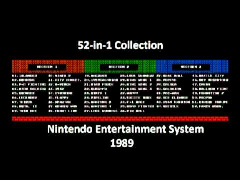 52 in 1 Collection (NES) Music - Galaga Demons of Death Game Start